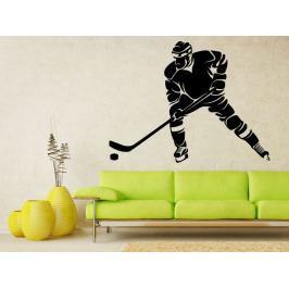 Samolepka na zeď Hokejista 0600
