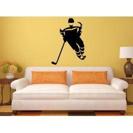 Samolepka na zeď Hokejista 0607