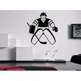 Samolepka na zeď Hokejista 0609
