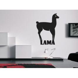 Samolepka na zeď Lama s nápisem 0620
