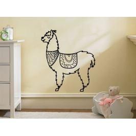 Samolepka na zeď Lama kresba 0622