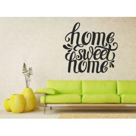 Samolepka na zeď Nápis Home Sweet Home 0624