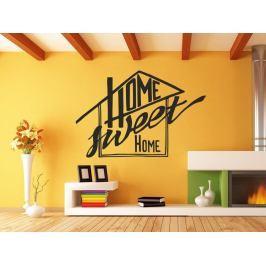 Samolepka na zeď Nápis Home Sweet Home 0629