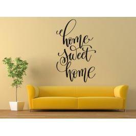 Samolepka na zeď Nápis Home Sweet Home 0632
