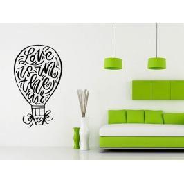 Samolepka na zeď Nápis Love is in the air 0639