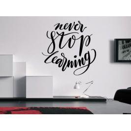 Samolepka na zeď Nápis Never Stop Learning 0642
