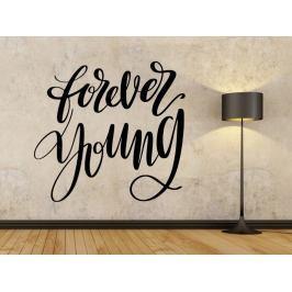 Samolepka na zeď Nápis Forever young 0649
