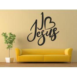 Samolepka na zeď Nápis I love Jesus 0658