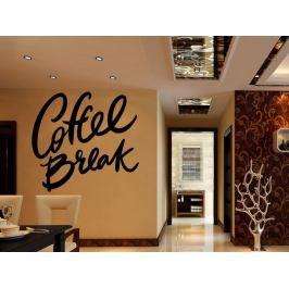 Samolepka na zeď Nápis Coffee break 0660