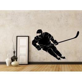 Samolepka na zeď Hokejista 0693