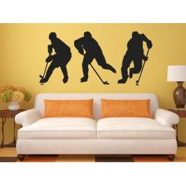 Samolepka na zeď Hokejisti 0694