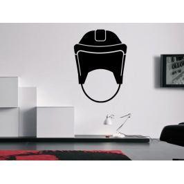Samolepka na zeď Helma na hokej 0696