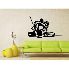Samolepka na zeď Hokejový brankář 0709