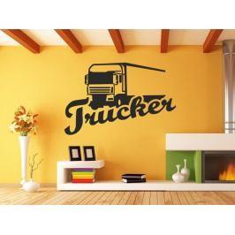 Samolepka na zeď Kamion s nápisem Trucker 0751