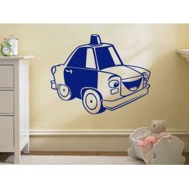 Samolepka na zeď Autíčko Policie 0777