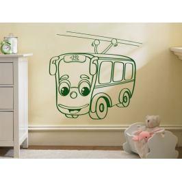 Samolepka na zeď Autíčko trolejbus 0781