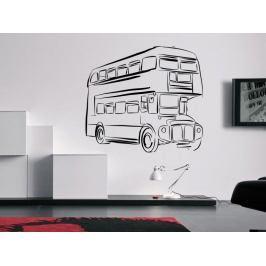 Samolepka na zeď Londýnský autobus Double Decker 0792