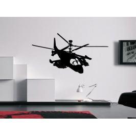 Samolepka na zeď Helikoptéra vojenská 0810