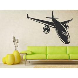 Samolepka na zeď Letadlo 0822