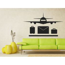 Samolepka na zeď Letadlo 0834