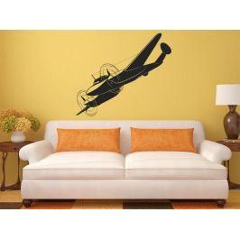 Samolepka na zeď Letadlo 0839