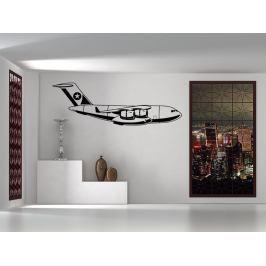 Samolepka na zeď Letadlo 0841
