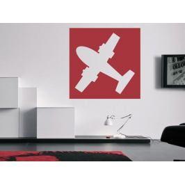 Samolepka na zeď Letadlo 0864