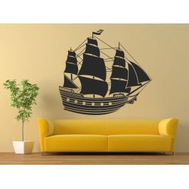 Samolepka na zeď Loď plachetnice 0915