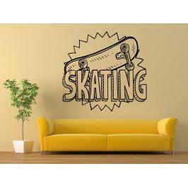 Samolepka na zeď Skateboard 0961