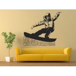 Samolepka na zeď Snowboardista 0965