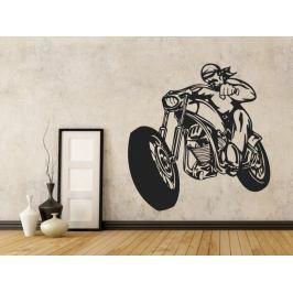 Samolepka na zeď Motorkář 1002