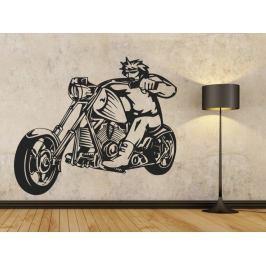 Samolepka na zeď Motorkář 1003