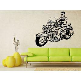 Samolepka na zeď Motorkář 1004