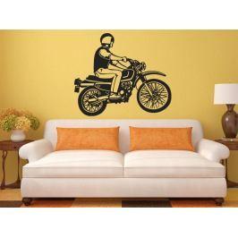 Samolepka na zeď Motorkář 1008