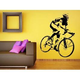 Samolepka na zeď Cyklista 1038