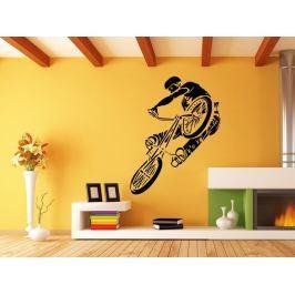 Samolepka na zeď BMX biker 1048