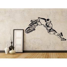 Samolepka na zeď BMX biker 1049