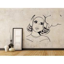 Samolepka na zeď Retro žena z komiksu 1071