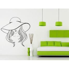 Samolepka na zeď Žena s kloboukem 1078