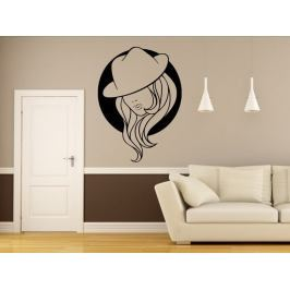 Samolepka na zeď Žena v klobouku 1081