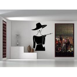 Samolepka na zeď Dáma s cigaretou 1084