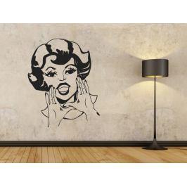 Samolepka na zeď Retro žena 1086