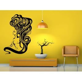 Samolepka na zeď Nahá žena s dlouhými vlasy 1094