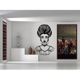 Samolepka na zeď Barokní žena 1095
