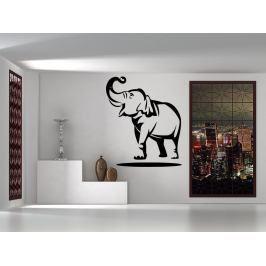 Samolepka na zeď Slon s chobotem nahoru 1151