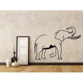 Samolepka na zeď Slon s chobotem nahoru 1152
