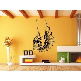 Samolepka na zeď Lebka s křídly 1165