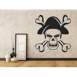 Samolepka na zeď Lebka piráta 1168