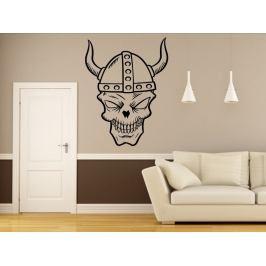 Samolepka na zeď Lebka s rohy 1176