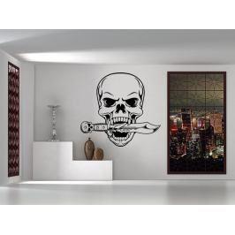Samolepka na zeď Lebka s dýkou 1179